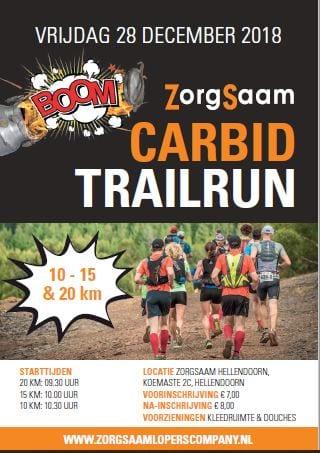 ZorgSaam Carbid Trailrun vrijdag 28 december!