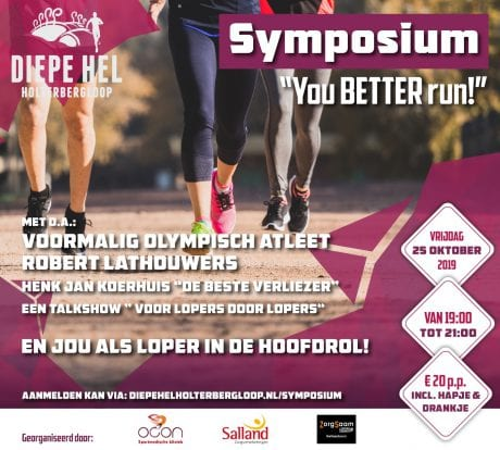 Hardloopsymposium 'You Better Run'